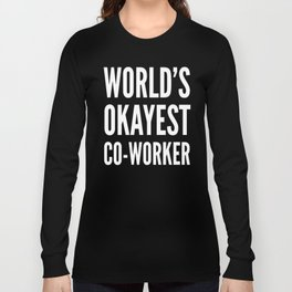 World's Okayest Co-worker (Ultra Violet) Long Sleeve T-shirt