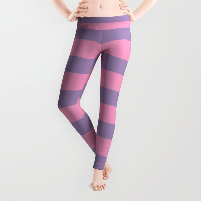 Pink & Lavender Stripe Pattern Leggings