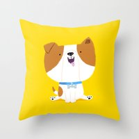 puppy Throw Pillows featuring Puppy by Chris Chatterton