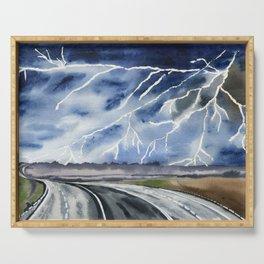 Thunderstorm en route Serving Tray