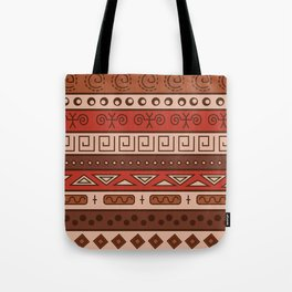 African Tribal Pattern No. 18 Tote Bag