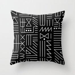 Line Code Throw Pillow