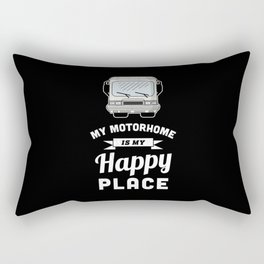 My Motorhome is my Happy Place - RV Gift Rectangular Pillow