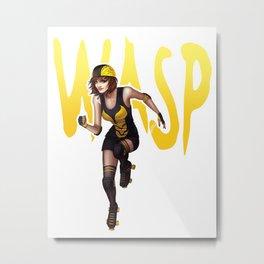 Derby Wasp Metal Print