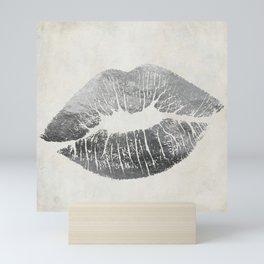 Hollywood Kiss Silver Mini Art Print