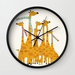 giraffe do disco Wall Clock