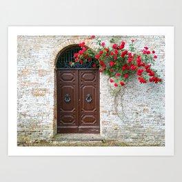 Italian Red Roses Art Print