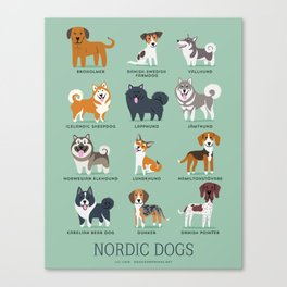 NORDIC DOGS Canvas Print