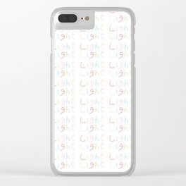 Light 1-Light-day,sun,positive,good,sol,dia,glow,brillar,sunlight,gleam Clear iPhone Case