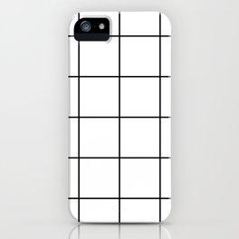 black grid on white background iPhone Case