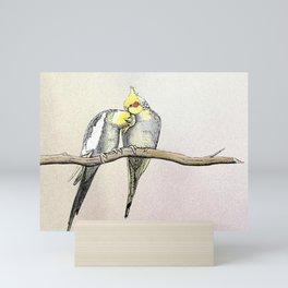 Lovebirds Mini Art Print
