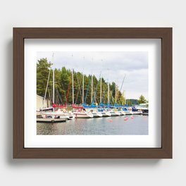 Sailboats in harbor Recessed Framed Print