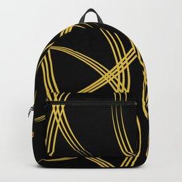 Elegant Gold on Black Backpack