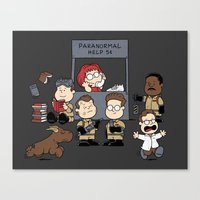 ghost busters Canvas Prints featuring The Busters Are In! by adho1982