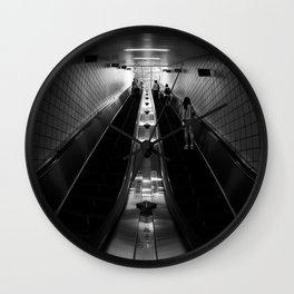 Subway Escalator Wall Clock