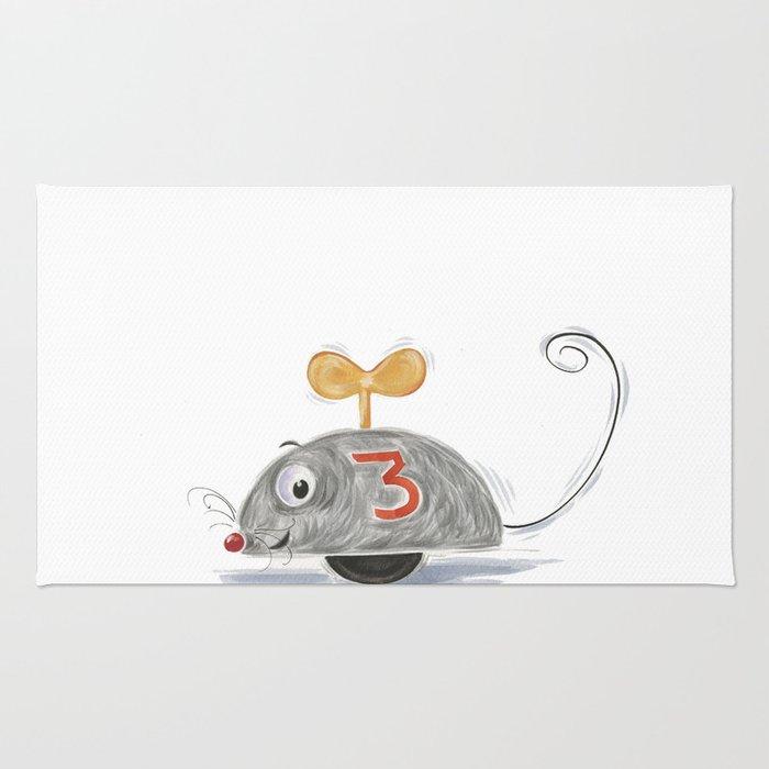 Wheel Mouse Rug