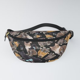 Tough Cats on Black Fanny Pack