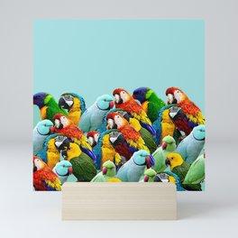 Sky blue parrots home decor Mini Art Print