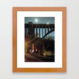 house and bridge  Framed Art Print