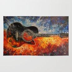 The rhythms of the guitar Rug