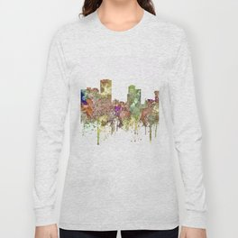 Little Rock, Arkansas Skyline - Faded Glory Long Sleeve T-shirt