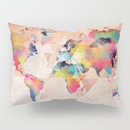 world map 33 sacred Pillow Sham