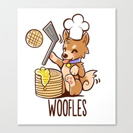 Im Making Woofles Canvas Print