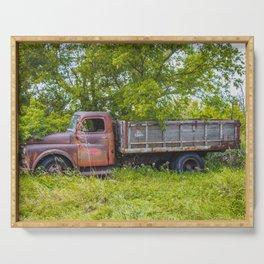 Farm Truck, Arena, North Dakota 5 Serving Tray