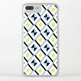 symetric patterns 12 -mandala,geometric,rosace,harmony,star,symmetry Clear iPhone Case
