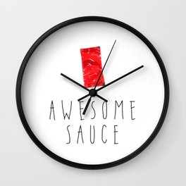 Awesome Sauce Wall Clock