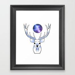 Galaxy Deer Framed Art Print