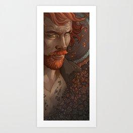 Captain Flint, Black Sails Art Print