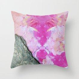 Brush Strokes / Oil Pink Throw Pillow
