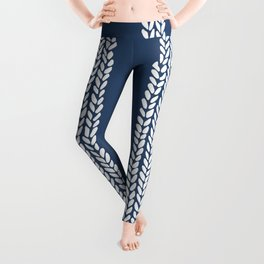 Cable Navy Leggings
