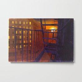 Harlem Sunset Fire Escape Metal Print