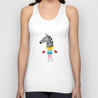boxing Tank Tops featuring Boxing time by Alba Vilardebo