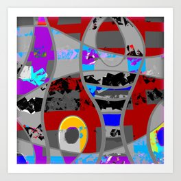 Clouded rainbows abstract modern Art Print