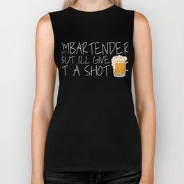 GIVE IT A SHOT Shots Party Alcohol trust me Bartender Beer Waiter Liquor Bistro Glass Tequila Biker Tank