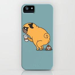 Coffee makes me poop iPhone Case