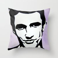 james franco Throw Pillows featuring James Franco by Katy Rose