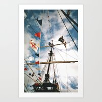 pirate ship Art Prints featuring Pirate Ship by For the easily distracted...