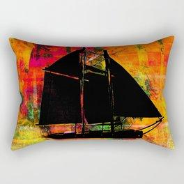 Sailboat Colorful Background Rectangular Pillow