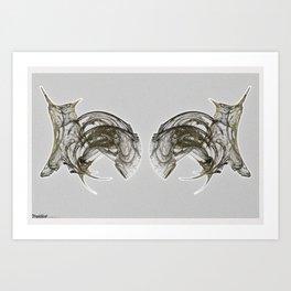 Frakblot Snow Owl Art Print
