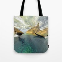 dolphins Tote Bags featuring Dolphins by nicky2342