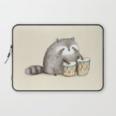 Raccoon on Bongos Laptop Sleeve