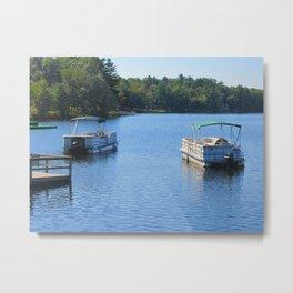 Boats on the Lake 2 Metal Print