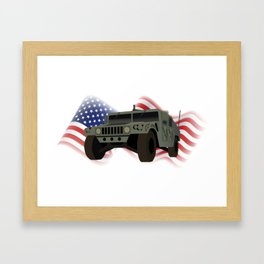 Patrotic HUMVEE Army Military Truck Framed Art Print