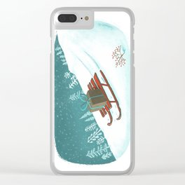 sled post Clear iPhone Case