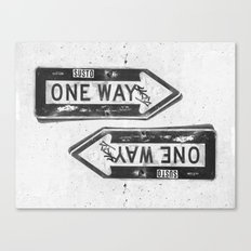 One Way? Canvas Print