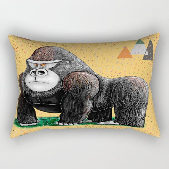Endangered Rainforest Mountain Gorilla Rectangular Pillow